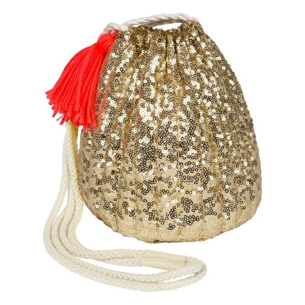 Meri Meri Meri Meri Gold Sequin Bag