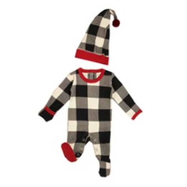 L'ovedbaby L'ovedbaby Baby Organic Holiday Overall Set