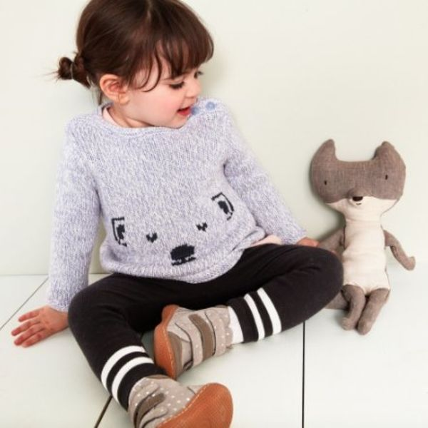 Tea Collection Tea Collection Baby Cute Cub Button Sweater