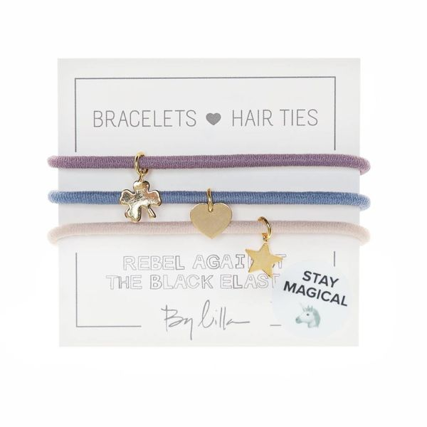 By Lilla By Lilla 3 Charm Hair Tie Bracelets