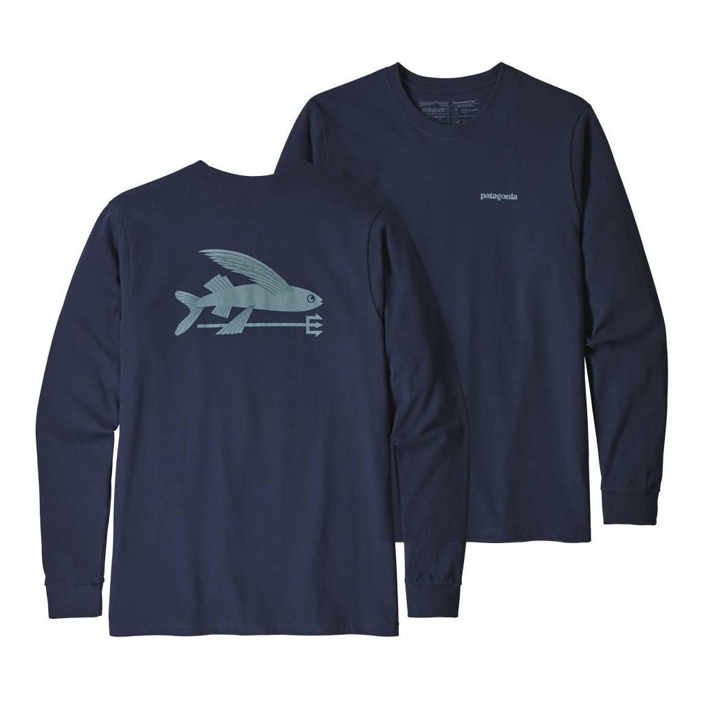 Patagonia Men S Long Sleeved Flying Fish Responsibili Tee