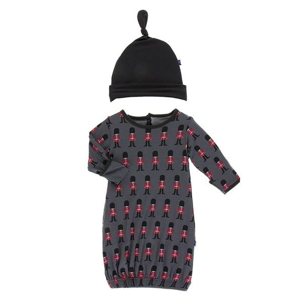 KicKee Pants KicKee Pants Layette Gown and Hat Set