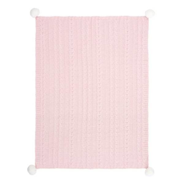 Elegant Baby Elegant Baby Pom Pom Chenille Knit Blanket