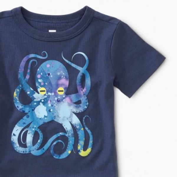 Tea Collection Tea Collection Pop Octopus Baby Graphic Tee