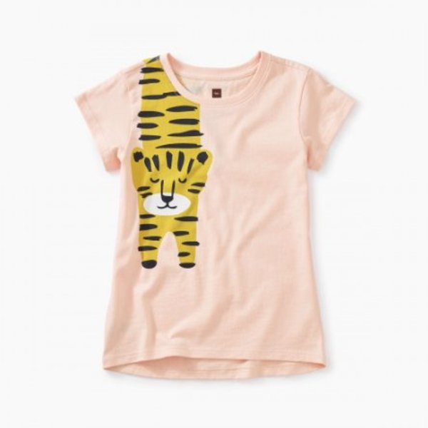Tea Collection Tea Collection Girls Tiger Turn Graphic Tee