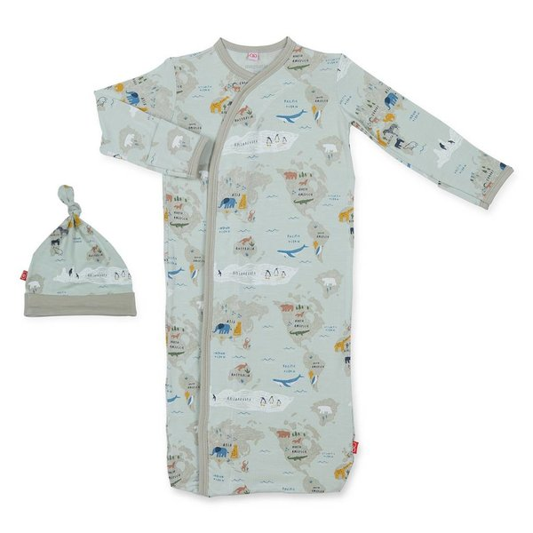 Magnificent Baby Magnificant Baby Modal Magnetic Sack Gown and Hat