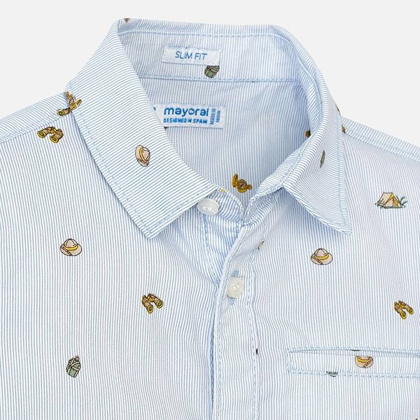 Mayoral Mayoral Boys Collared Short Sleeve Shirt