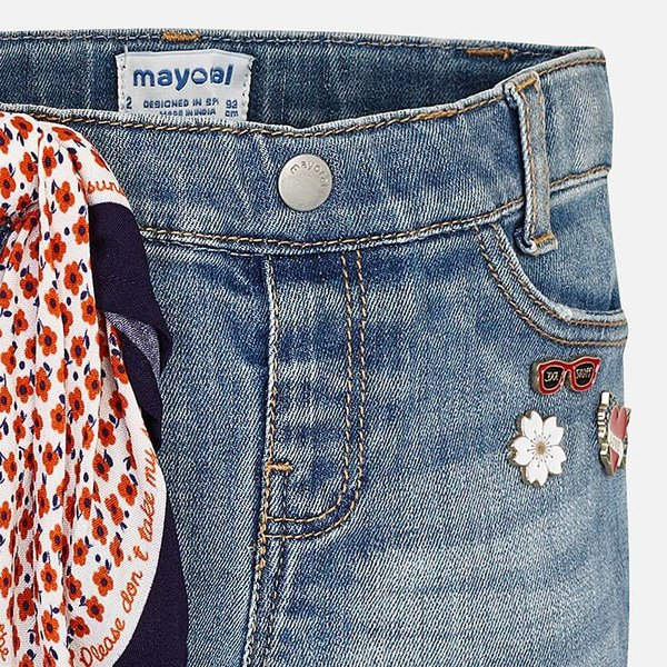 Mayoral Mayoral Girls Jeans with Handkerchief