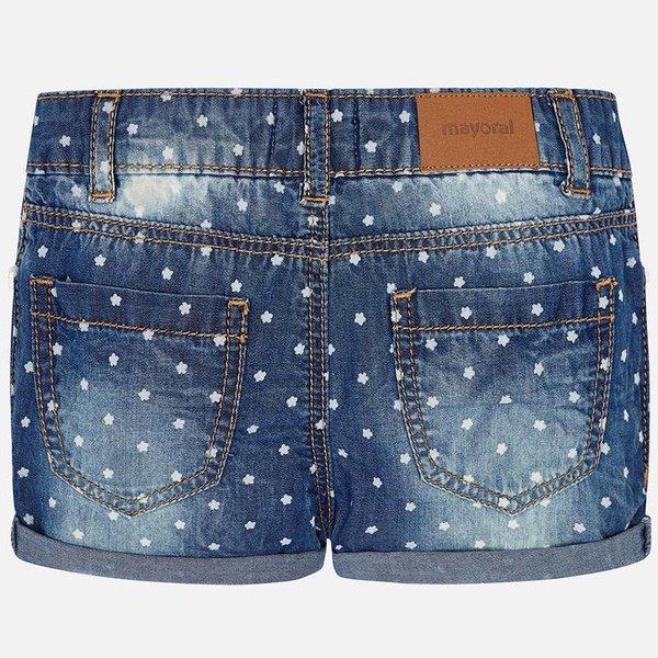 Mayoral Mayoral Girls Polka Dot Denim Shorts