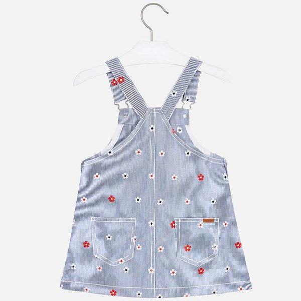 Mayoral Mayoral Girls Denim Embroidered Dress