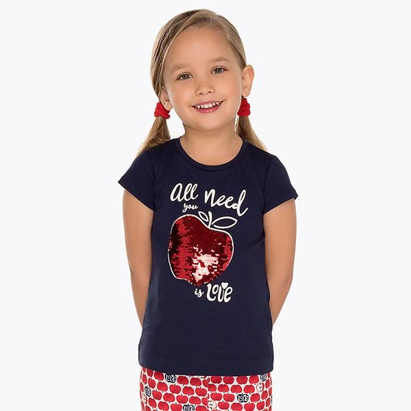 Mayoral Mayoral Girls Short Sleeve Printed T-Shirt