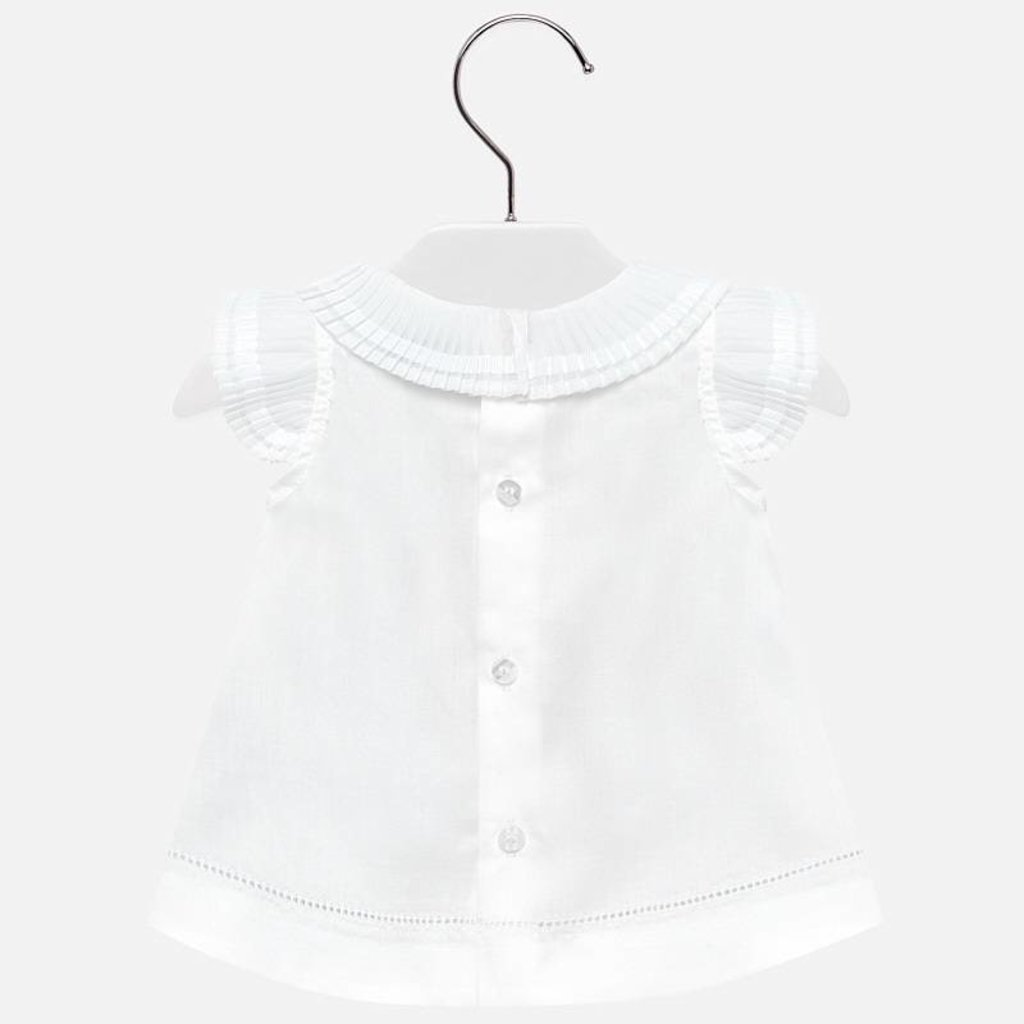 Mayoral Mayoral Baby Girl Blouse Pleated Neckline