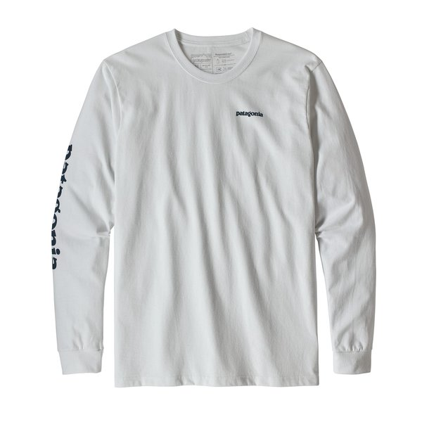 Patagonia Patagonia Mens Long-Sleeved Text Logo Cotton/Poly Responsibili-Tee
