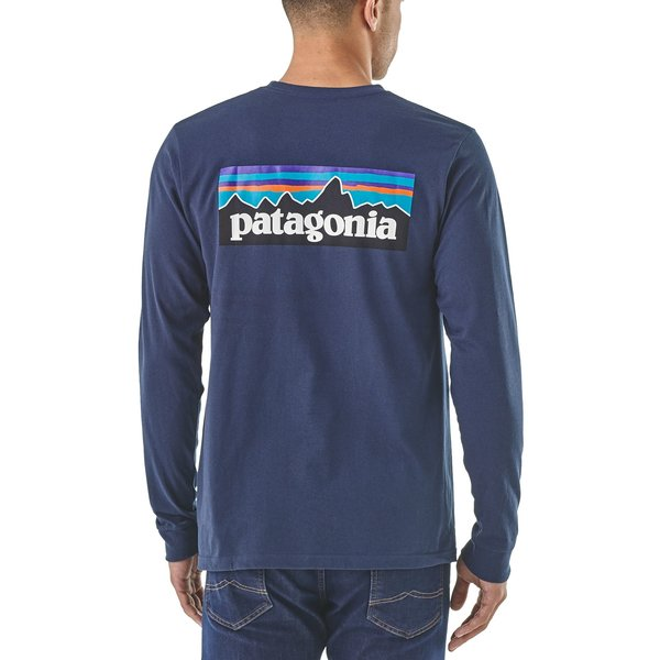 Patagonia Patagonia Mens Long-Sleeved P-6 Logo Responsibili-Tee