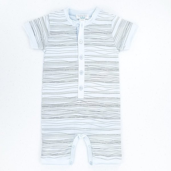Feather Baby Feather Baby Boy Henley Romper