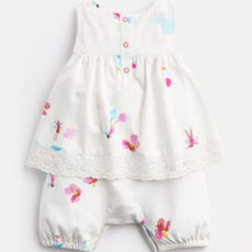Joules Joules Uma Mock Layer Printed Onesie - Size: 9-12 Mo