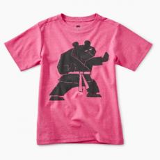 Tea Collection Tea Collection Martial Arts Bear Graphic Tee - Size: 6