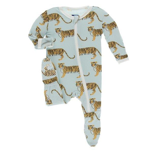 KicKee Pants KicKee Pants Print Footie Zipper
