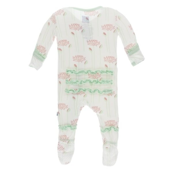 KicKee Pants KicKee Pants Print Muffin Ruffle Footies Zipper