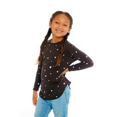 Chaser Kids Chaser Kids Girls Vintage Long Sleeve Shirttail Tee