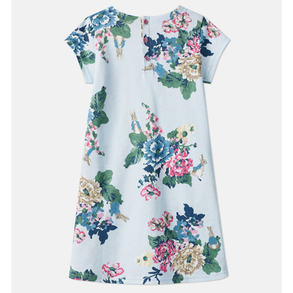 Joules Joules Girls Patch Peter Rabbit Floral Dress