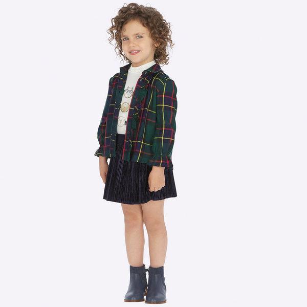 Mayoral Mayoral Girls Velvet Pleated Skirt
