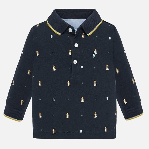 Mayoral Mayoral Baby Boys Long Sleeve Polo Shirt