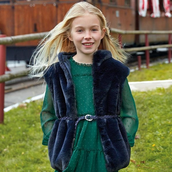 Mayoral Mayoral Girls Fur Vest with Belt