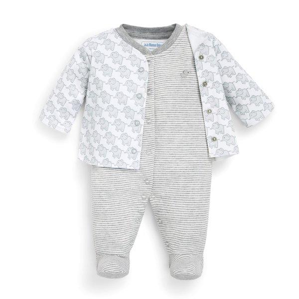 JoJo Maman Bebe JoJo Maman Bebe 2-Piece Baby Jacket & Footie Set