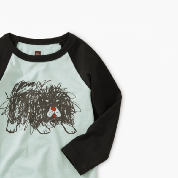 Tea Collection Tea Collection Boys Scribble Dog Graphic Raglan Tee