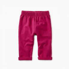 Tea Collection Tea Collection Girls Solid Knit Baby Pant