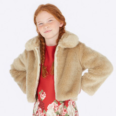 Mayoral Mayoral Girls Fur Coat