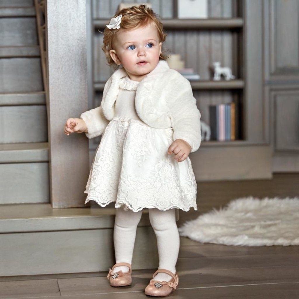 Mayoral Mayoral Baby Girls Tricot Tulle Dress