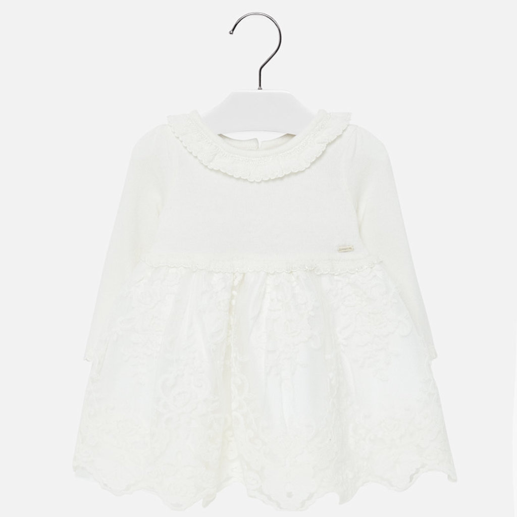 Mayoral Mayoral Baby Girls Tricot Tulle Dress - Size: 12 Months