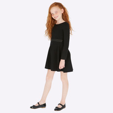 Mayoral Mayoral Girls Tricot Black Dress