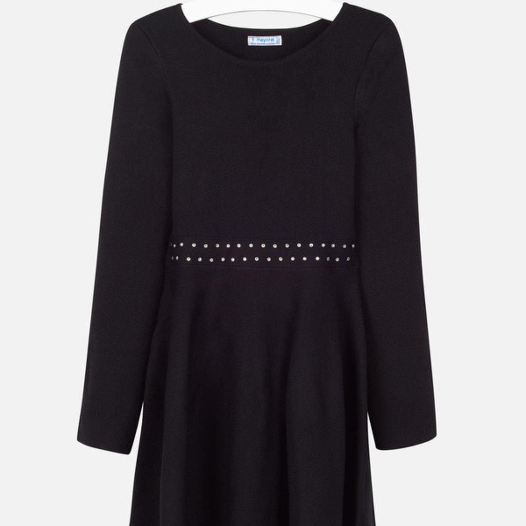 Mayoral Mayoral Girls Tricot Black Dress - Size: 10