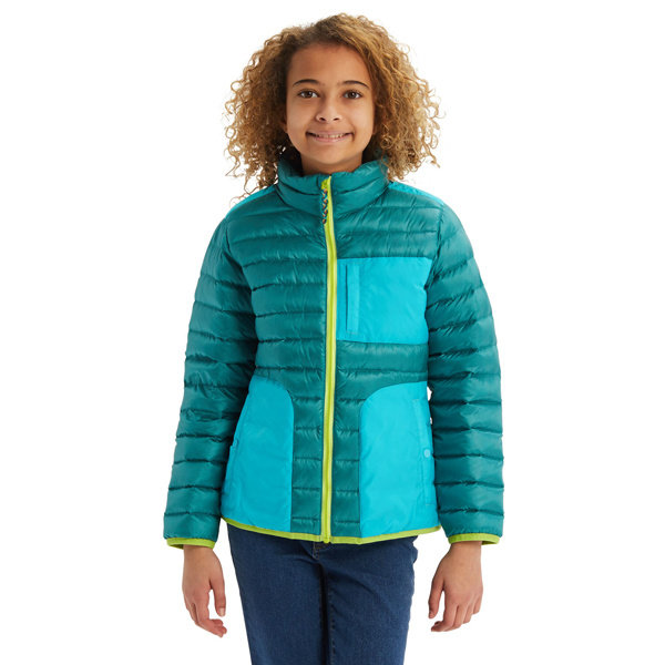 Burton Girls Evergreen Down Jacket Yellow Turtle