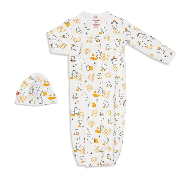Magnificent Baby Magnificent Baby Organic Magnetic Gown Set