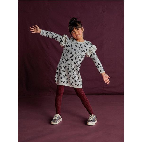Tea Collection Tea Collection Snow Leopard Sweater Dress