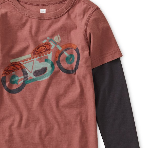 Tea Collection Tea Collection Boys Motorcycle Layered Graphic Tee