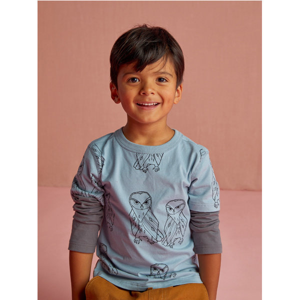 Tea Collection Tea Collection Boys Printed Layered Sleeve Tee