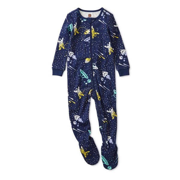 Tea Collection Tea Collection Boys Patterned Footed Pajamas