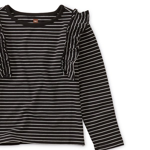 Tea Collection Tea Collection Striped Ruffle Flutter Top