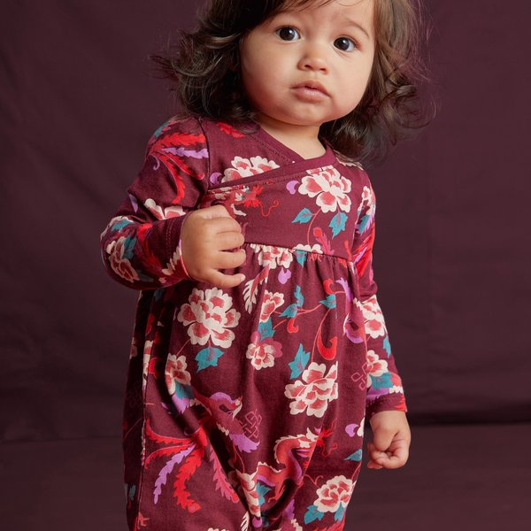 Tea Collection Tea Collection Baby Girls Floral Wrap Neck Romper