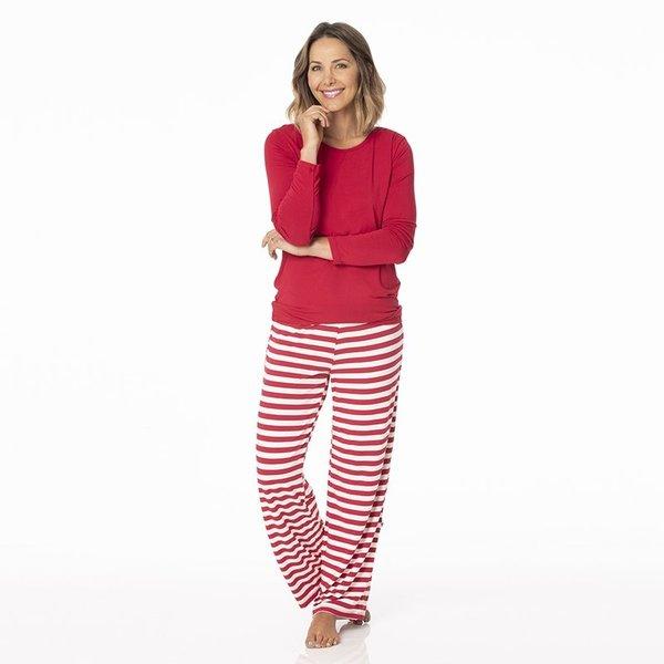 KicKee Pants KicKee Pants Womens Long Sleeve Loosey Goosey Tee & Pant Set