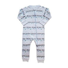 Feather Baby Feather Baby Boy Zipper Footie - Size: 0-3 Months