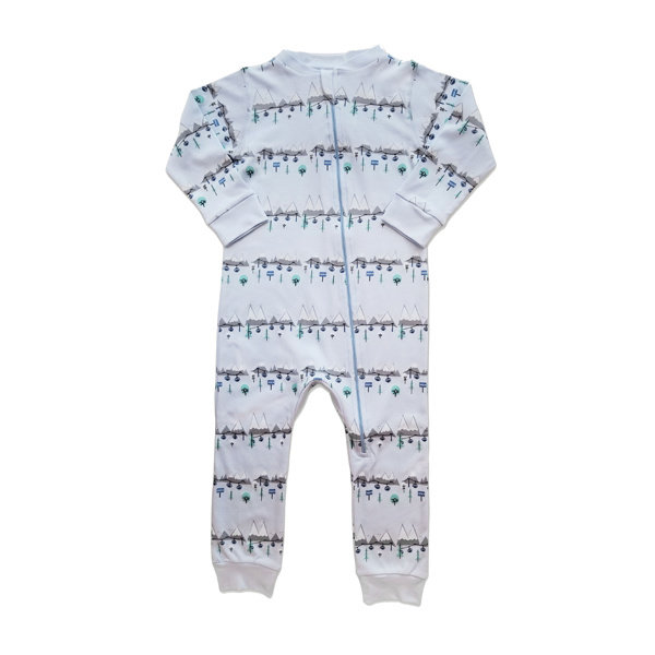 Feather Baby Feather Baby Boy Zipper Footie