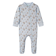 Feather Baby Feather Baby Boy Zipper Romper