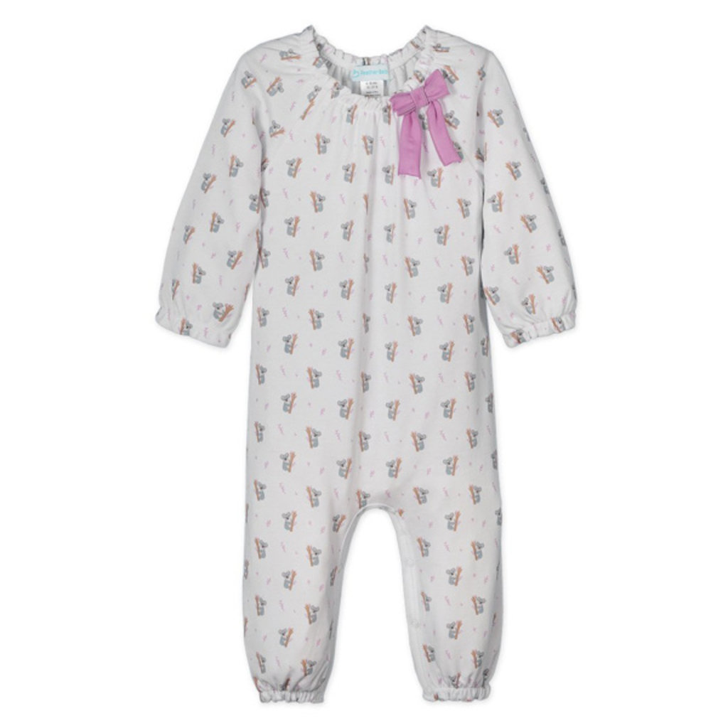Feather Baby Feather Baby Girls Bow Romper