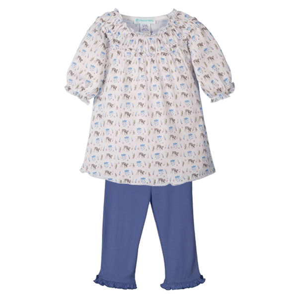 Feather Baby Feather Baby Girls Ruched Tunic Set